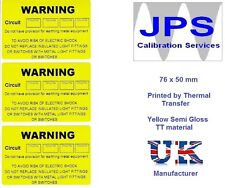 Electrical Labels - 50 Warning Circuit Labels  76 x 50mm JPSLABEL5