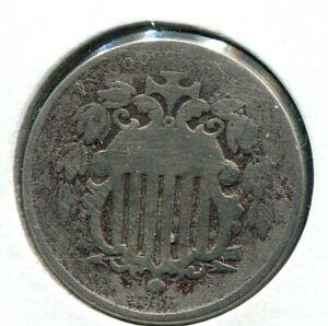 1866 RAYS 5C Shield Nickel - Lot # NS  148