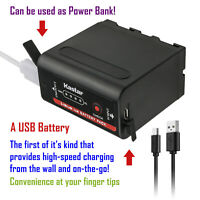 Kastar Battery Super Fast Charger for Sony NP-F950 NP-F960 NP-F970 NP-F980Exp