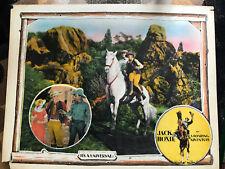 A Roaring Adventure 1925 Universal silentwestern lobbycard Jack Hoxie Marin Sais