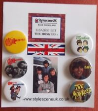 The Monkees (Set 2) 6 Collectors Button Badge Set. 60's Scene by StylesceneUK