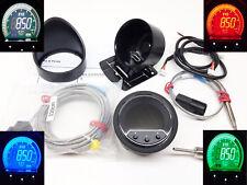 RSR OLED EVO Abgastemperatur Anzeige + ALARM + PEAK 52mm Zusatz Instrument EGT