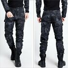 Hot Mens Military Trousers Camo Combat Army Cargo Work Outdoor Long Pocket Pants