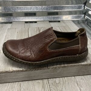 Born W6810 Brown Leather Loafer Slip On Comfort Shoe Women's Size 7.5