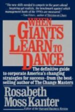 WHEN GIANTS LEARN TO DANCE (1990) $1.99  PAPERBACK  GOOD!