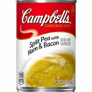 Campbell's Condensed Split Pea with Ham Soup, 11.5 oz. Can