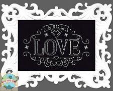 Cross Stitch Kit ~ Design Works Grow Love Chalkboard w/Filigree Frame #DW2891