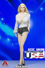 1/6 Sexy Deep V Shirt Jeans Shorts Set B For Phicen Hot Toys Female Figure USA