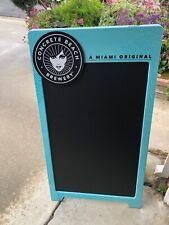 Concrete Beach Brewery Miami Beer Bar A-Frame Chalkboard Man Cave Mirror