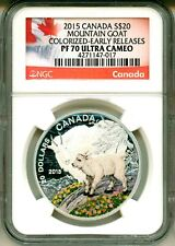 2015 Canada S$20 Baby Animals Mountain Goat Colorized ER NGC PF70 Ultra Cameo