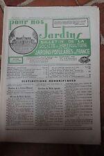 POUR NOS JARDINS N°48 1957 - POMMES DE TERRE COMPOST CULTURE HIVERNAGE PLANTES