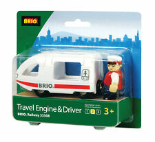 Brio Travel Engine & Driver Wooden Train Engine Thomas compatible NEW 33508