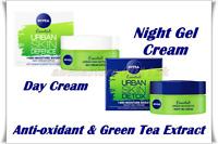 Nivea DAY Cream or Night Gel Cream Urban Skin Detox + 48h Moisture Boost 50 ml
