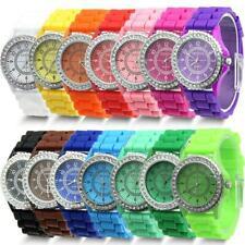 Geneva Fashion Watches Crystal Jelly Gel Silicon Women Men Quartz Wrist Watch