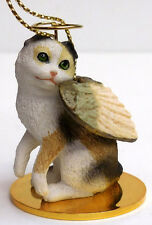 Scottish Fold Tort/White Angel Cat Ornament Conv. Concepts,Tiny Ones,Item Cta21