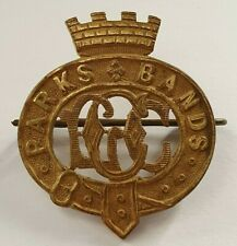 More details for very scarce london county council parks band vintage brass hat cap badge 2 lugs