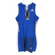 Adidas size M medium Gym Leotard One Piece Gymnastics Dance women blue New
