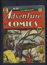 Adventure 86 Dc golden age comic Classic WWII war Kirby Sandman cover restored