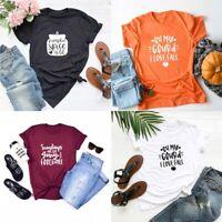 Pumpkin Fall T-shirt Thanksgiving Holiday Shirt Christma Unisex Graphic Tee Tops