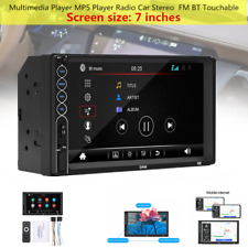 "7""N6 12V Multimedia Touch Player MP5 Player Radio Car Stereo FM BT Support Apple"