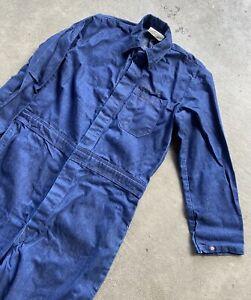Mens Vintage 1995 Denim Coveralls Size Medium Made In USA