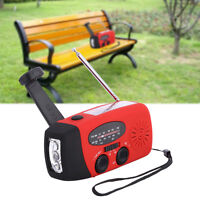 Emergency Hand Crank Solar Dynamo Weather AM/FM Radio w/ LED Flashlight Charger