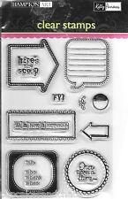 HAMPTON ART Kelly Panacci Clear Stamps FYI