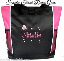 PERSONALIZED Ladybug Tote Bag diaper baby beach book pink black New teacher