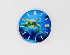 Turtle Under Sea Custom Watch Dial w/ date- fit for Seiko NH35 7S36 4R15