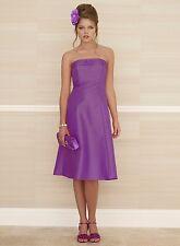 BHS Anna Bridesmaid Dress Purple Taffeta  Size 14, 16 BNWT