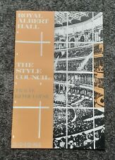 The Style Council; Royal Albert Hall; Official Mini Poster; Paul Weller