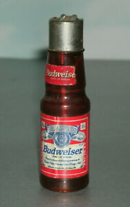 Miniature Budweiser Bottle Novelty Lighter - Vintage 1990's Collectible BUD Swag