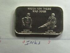 BONNIE & CLYDE CRIMINALS DEATH CAR 1974 CALIFORNIA MINT 999 SILVER BAR VERY RARE