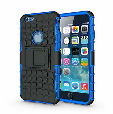 """For iPhone 6 6s 4.7"""" Blue Heavy Duty Strong Tradesman Durable Case Cover Stand"""