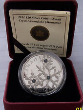CANADA (2011) $20 SILVER CRYSTAL SNOWFLAKE (MONTANA) PROOF LIMITED COA BOX