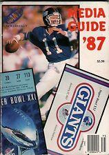 New York Giants Press Guide 1987