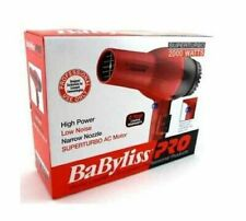 BAD BOX NEW BABYLISS PRO SUPER TURBO 2000 WATT HAIR BLOW DRYER RED # BAB307