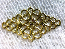 Vtg 15 GORGEOUS GOLD FILIGREE METAL DIAMOND SHAPE FOCUS PIECE 55mm! #110515c