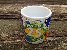 Sesame Street 25 Wonderful Years Anniversary Cup Mug