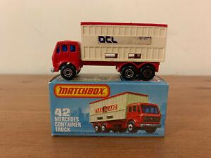 Matchbox Superfast 42 Mercedes Container Truck
