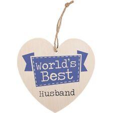 Valentines Day Wedding Gift Wooden Shabby Chic WORLD'S BEST HUSBAND Wooden Sign