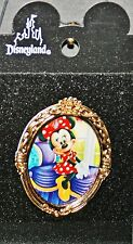 New listing Minnie Mouse Pin Disney Disneyland Limited Edition Gold Oval Frame Inside House