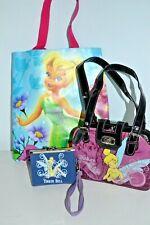 Disney Tinker Bell 3 Pièce Ensemble,Shopping Sac,Pochette Sac et Cadeau