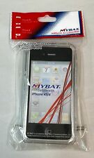 MYBAT Hard Crystal Clear Plastic Frame Case Cover For iPhone 4/ 4S