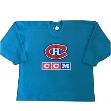 Vintage Montreal Canadiens Practice CCM Maska Jersey Size 56 Fight Strap NHL Hab