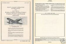 Bell P-63 Kingcobra 1940's WW2 historic manual WWII RARE PERIOD DETAIL