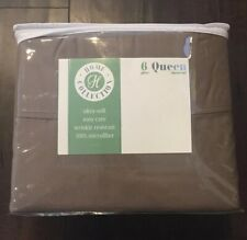 Home Collection Ultra Soft Cozy 6 Piece Bed Sheet Set -Taupe Queen ienjoy home