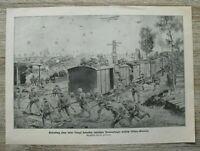 Blatt 1914-18 englischer Proviant Zug Eisenbahn Erobert Villers Guislain 1.WK WW