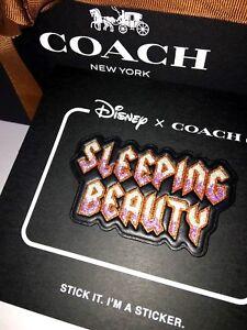 DISNEY X COACH Leather Patch SLEEPING BEAUTY STICKER Limited A DARK FAIRY TALE