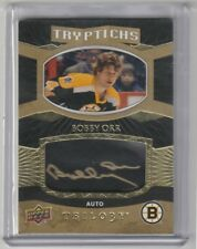 2017 18 UD Trilogy Tryptichs Autograph #29/49 Bobby Orr Boston Bruins Gold Ink